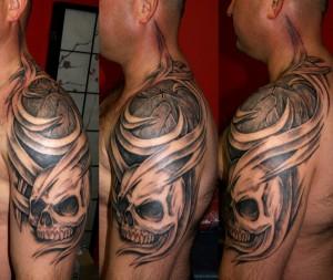 mskull 3d tattoo
